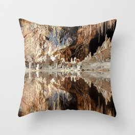 "Cave (""Fairy Kingdom,"" the Saalfeld Fairy Grottoes) Throw Pillow"