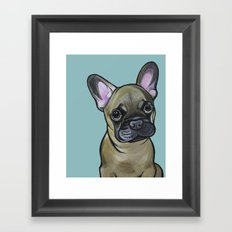 Armand the Frenchie Pup Framed Art Print