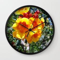 Yellow Trumpets Wall Clock