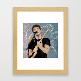 ShawnMendes Singing Digital Framed Art Print