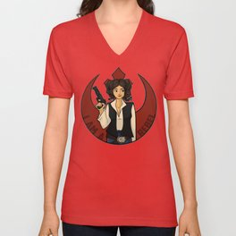Rebel Girl Unisex V-Neck