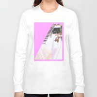 cafe Long Sleeve T-shirts featuring cafe by ONEDAY+GRAPHIC