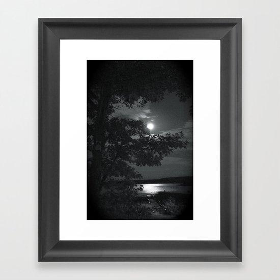 Blue Moon Canada Framed Art Print