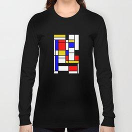 Art work inspired to P. Mondrian (n.1) Long Sleeve T-shirt