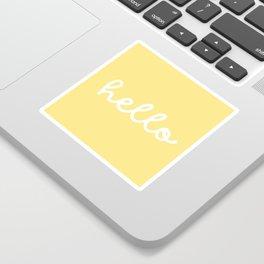 HELLO YELLOW Sticker