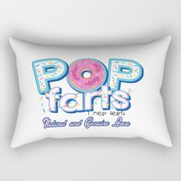 Pop farts I mean heart Rectangular Pillow