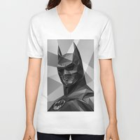 bat man V-neck T-shirts featuring Bat man by Filip Peraić