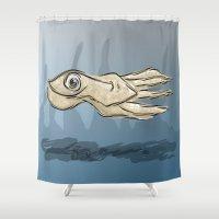 squid Shower Curtains featuring Squid by elledeegee