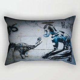 The Hand That Feeds Rectangular Pillow