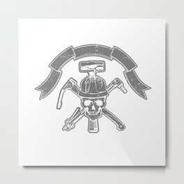 Death construction worker Metal Print