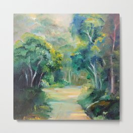 Caminho entre árvores (Path between the trees) Metal Print