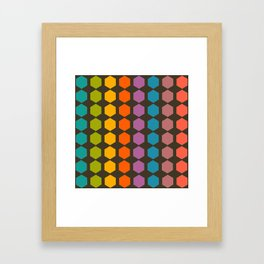 geometry game Framed Art Print