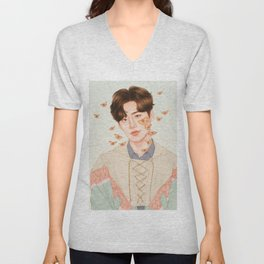 flutter by, fly high [lee jongsuk] Unisex V-Neck