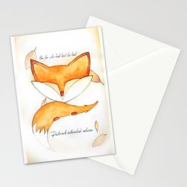 the fox who had lost his tail Stationery Cards