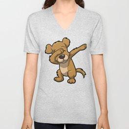 Funny Dabbing dog print - perfect gift for kids Unisex V-Neck