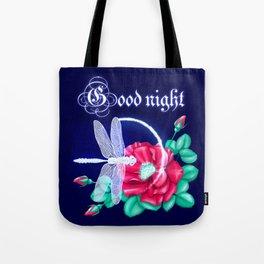 Full bloom | Dragonfly loves roses Tote Bag