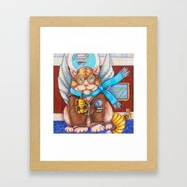 Steampunk Kitty Framed Art Print