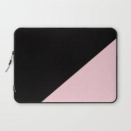 Black & Soft Pink - oblique Laptop Sleeve