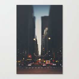 sunset in the city ... Canvas Print