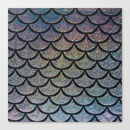 Silver Smoke Scales Canvas Print