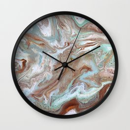 Milk Chocolate with peppermint & cream Wall Clock
