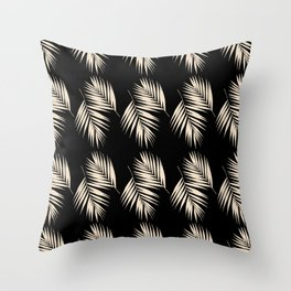 Palm Leaves Pattern #13 #Gold Touch #Black #decor #art #society6 Throw Pillow