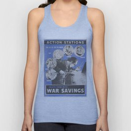 Reprint of British wartime poster. Unisex Tank Top