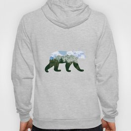 Bear and landscape with mountains Hoody
