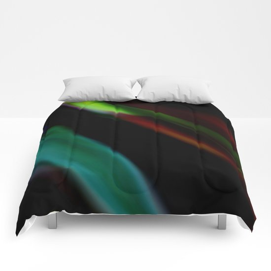 Colored Flames Comforters