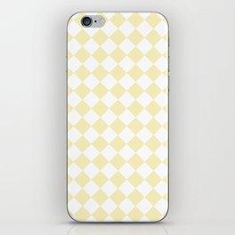 Diamonds - White and Blond Yellow iPhone Skin