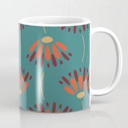 Dueling Flower Pattern Coffee Mug