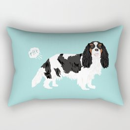 Cavalier King Charles Spaniel tricolored funny farting dog breed gifts Rectangular Pillow