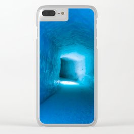 Ice tunnel cave Clear iPhone Case