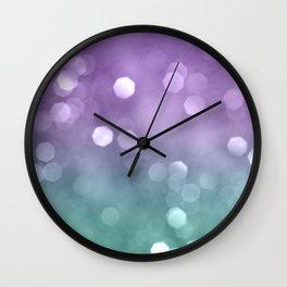 Mermaid Colored Bokeh #1 #shiny #decor #art #society6 Wall Clock