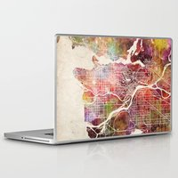 vancouver Laptop & iPad Skins featuring Vancouver by MapMapMaps.Watercolors