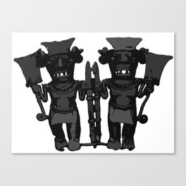 Tribal Double God Figures Canvas Print