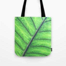 Hawaiian Tropical Jungle Leaf Macro View Tote Bag