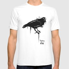 A Crow Mens Fitted Tee MEDIUM White