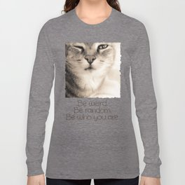 Wise Tabby Cat Long Sleeve T-shirt