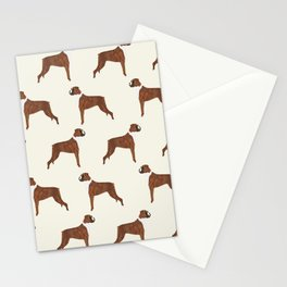 Boxer dog pattern dog lover pet portraits boxers dog breed by pet friendly Stationery Cards