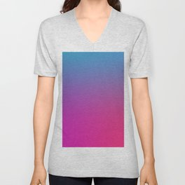 WIZARDS CURSE - Minimal Plain Soft Mood Color Blend Prints Unisex V-Neck