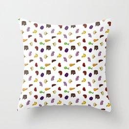 Organs, in Technicolor Throw Pillow
