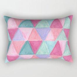 pastel triangle pattern Rectangular Pillow