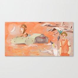 Aviator Orange Canvas Print