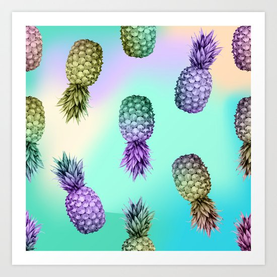 Pineapple Glow Art Print
