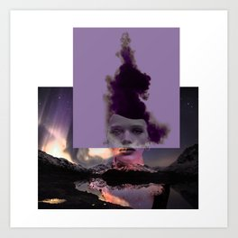 Purple forgiveness Art Print
