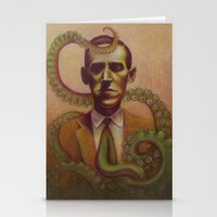 lovecraft Stationery Cards featuring H.P. Lovecraft by Henri Scribner