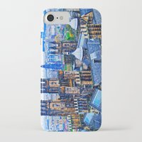 edinburgh iPhone & iPod Cases featuring Edinburgh Rooftops  by Valerie Paterson