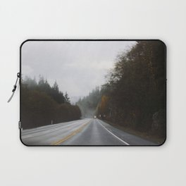 Overcast Fall Road Laptop Sleeve