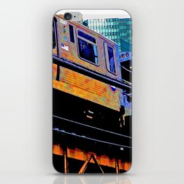 Chicago 'L' in multi color: Chicago photography - Chicago Elevated train iPhone Skin